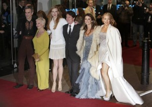 CAST OF NINE AT THE LONDON PREMIERE