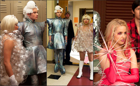 GLEE MEETS GAGA: SNEAK PEEK AT THE LADY GAGA COSTUMES FOR THE MAY 25TH EPISODE OF GLEE