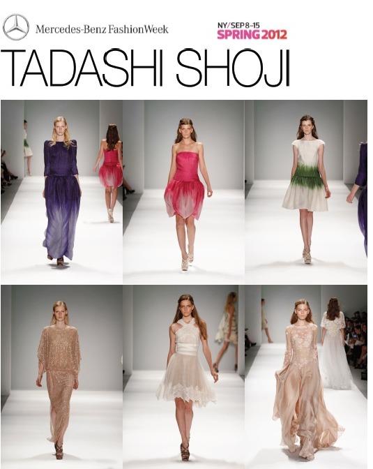 NY Fashion Week Spring 2012: Tadashi Shoji runway review