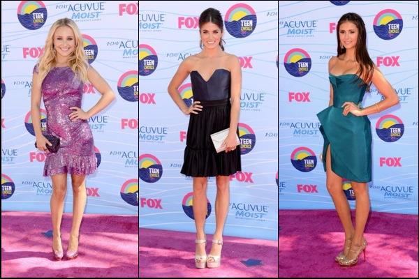 Teen Choice Awards red carpet fashion
