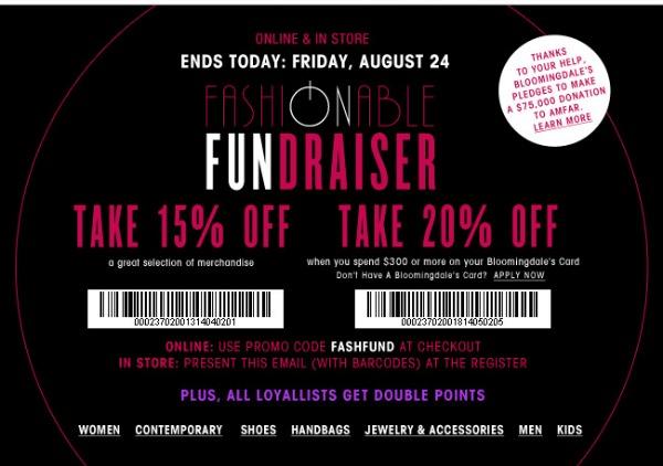 Shop Bloomingdale's Fashionable Fundraiser: August 23 – 24