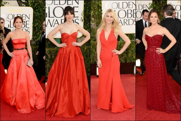 Golden Globe Awards 2013 Red Carpet Fashion: Who Wore What
