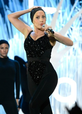 Lady Gaga in sequin catsuit at VMA 2013