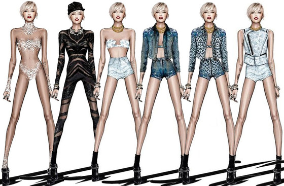 Miley Cyrus Bangerz tour costumes