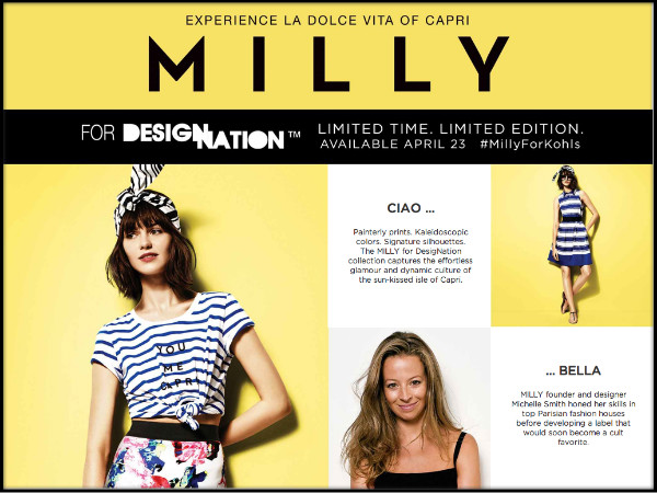 Shop the MILLY for Kohl's DesigNation capsule collection