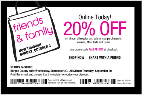 Bloomingdale's Friends & Family sale starts September 29th, 2010