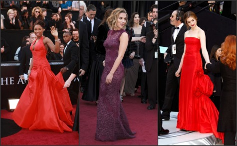 scarlett johansson oscars 2011 images. Oscars 2011 red carpet fashion