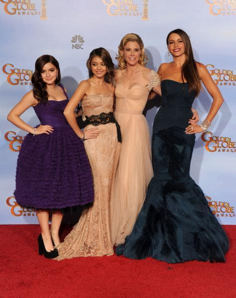 Golden Globe Awards 2012 red carpet fashion: The cast of Modern Family