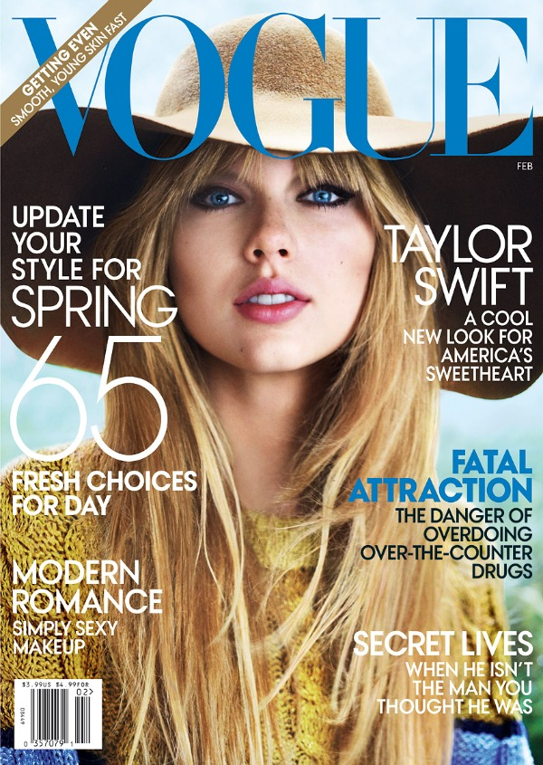 Taylor Swift lands the cover of February Vogue