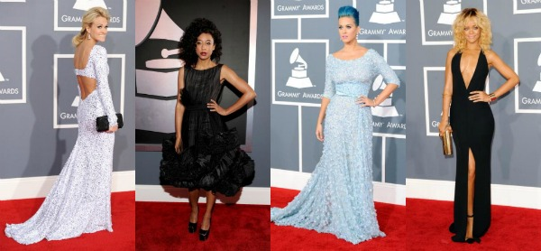 Grammy Awards 2012 red carpet fashion: What they wore