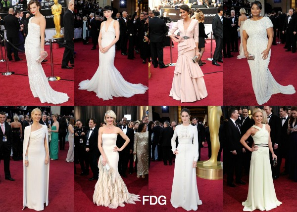 Academy Awards 2012 red carpet fashion