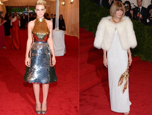 Anna Wintour and Carey Mulligan at Met Gala 2012