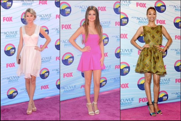 Teen Choice Awards red carpet fashion