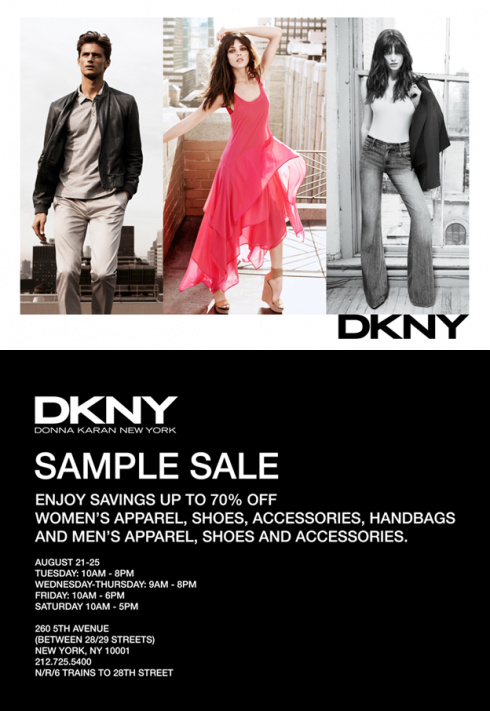 DKNY Sample Sale