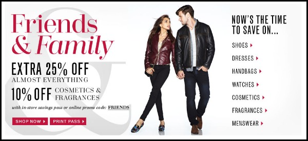 Lord and Taylor Friends and Family Sale 2012