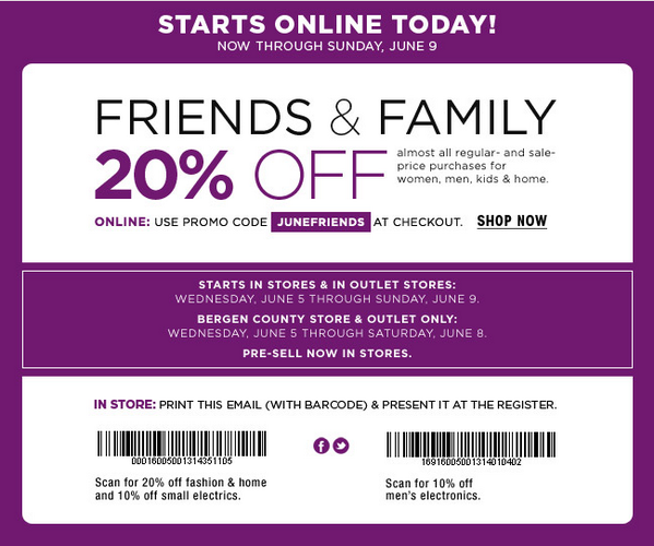 Bloomingdale's Friends and Family Sale June 2013: Save 20%
